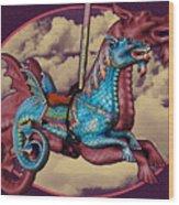 Rainey The Dragon-horse Wood Print