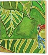 Rainforest Buds Wood Print