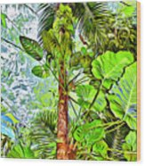 Rainforest Green Wood Print