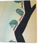 Rainforest Information Superhighway Wood Print