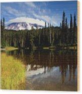 Rainier Capped Wood Print