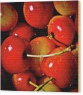 Rainier Cherries Wood Print