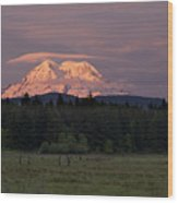 Rainier Dusk Wood Print
