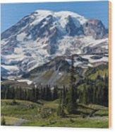 Rainier Mazama Ridge Wood Print