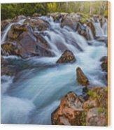Rainier Runoff Wood Print