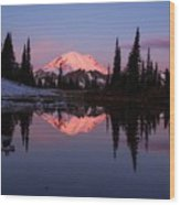 Rainier Sunrise Wood Print