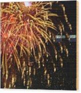 Raining Golden New Year Wishes Wood Print
