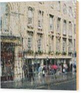 Rainy Bath Wood Print