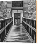 Rainy Day At Crystal Bridges Wood Print