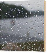 Rainy Day At The Lake Wood Print