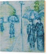 Rainy Day Impression Wood Print