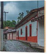 Rainy Day In Copala Wood Print