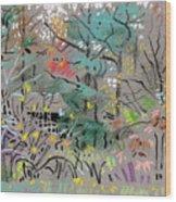 Rainy Day In High Ridge Wood Print
