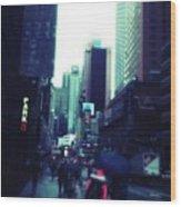 Rainy Day New York City Wood Print