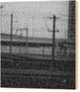 Rainy Day Train Wood Print