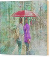 Rainy In Paris 1 Wood Print