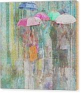 Rainy In Paris 2 Wood Print