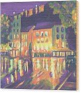 Rainy Night-old Quebec Wood Print