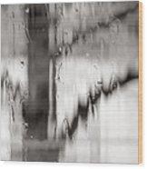 Rainy Pane Wood Print