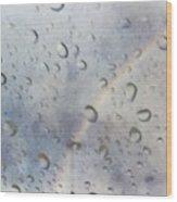 Rainy Rainbow Wood Print