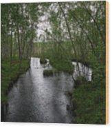 Rainy River. Koirajoki Wood Print