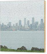 Rainy Skyline D040 Wood Print