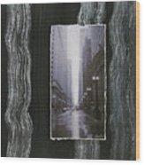 Rainy Street Layered Wood Print
