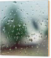 Rainy Window 1 Wood Print