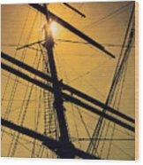 Raise The Sails Wood Print