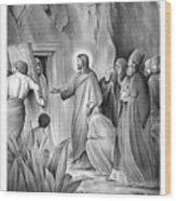 Raising Lazarus Wood Print