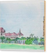 Rajabai Clock Tower And Bombay High Court Wood Print