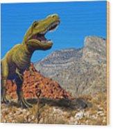 Rajasaurus In The Desert Wood Print