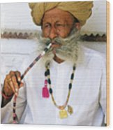Rajasthani Elder Wood Print by Michele Burgess