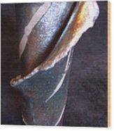 Raku Slab Wrapped Vase Wood Print