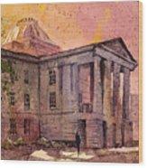 Raleigh Capital Wood Print