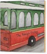 Raleigh Trolley Wood Print