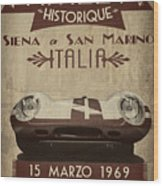Rally Italia Wood Print