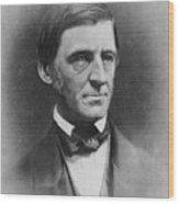 Ralph Waldo Emerson 1803-82 , American Wood Print