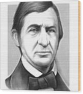 Ralph Waldo Emerson Wood Print