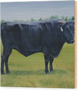 Ralphs Bull Wood Print by Stacey Neumiller