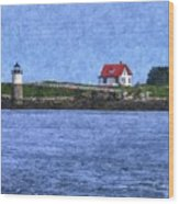 Ram Island Lighthouse Wood Print