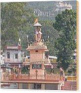Ram Statue - Rishikesh India Wood Print