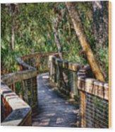 Rambling Bridge Wood Print
