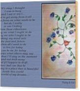 Rambling Rose Blues - Poetry In Art Wood Print