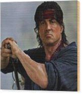 Rambo Sylvester Stallone Wood Print