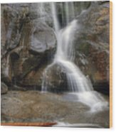 Ramsey Cascades In Great Smoky Mountains National Park Tennesee Wood Print