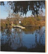 Ramshorn Dock In Autumn Wood Print