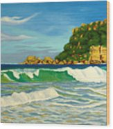 Ramy Base Beach Wood Print