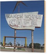 Ranch House Cafe Wood Print