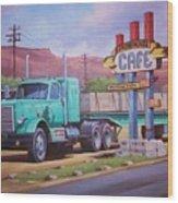 Ranch House Truckstop. Wood Print